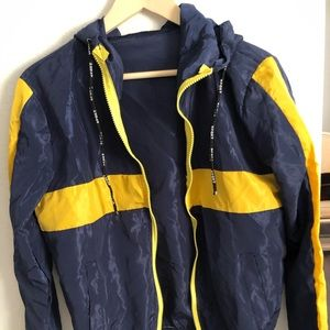 Blue and Yellow Sports Jacket